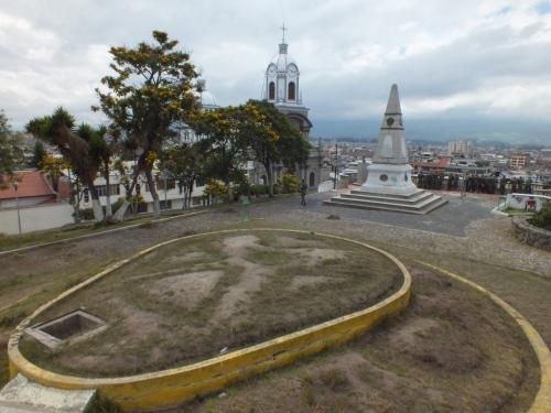 Parque 21 de Abril en Riobamba.