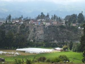Vista general desde la quebrada Santa Cruz, donde se posicionaron los realistas.