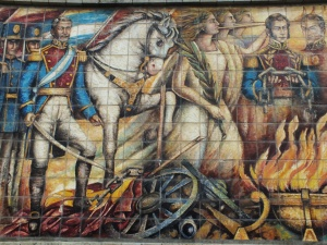 La victoria en Riobamba (Mural de la Nacionalidad)