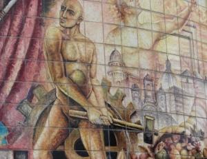 Mural de la Nacionalidad en el Parque 21 de Abril.