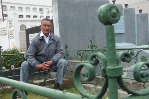 Eduardo Moreno recuerda la historia de sus antepasados.