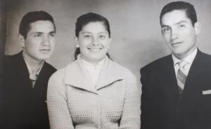 Fotografía de Adolfo, Bertha y Eduardo, hijos de Victoria y Herbert.